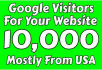 send your unique 10,000 Google visitors