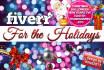 design for the holidays any banner, Facebook timeline, Google or Twitter Cover