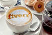 write your text or place logo in froth of coffee