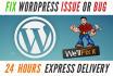 fix Wordpress issue problem error in 8 hours