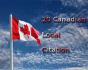 do 20 local SEO citation for canadian Business