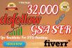 build 32,000 dofollow GSA Ser backlinks for seo ranking