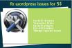 fix any Issue or error in WordPress website