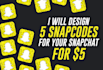 design 5 Snapcodes for your Snapchat