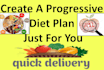 create a progressive diet plan just for you