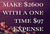 send you Video Tutorials to Make 2600USD With 97USD Expense