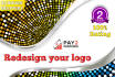 redesign your logo in high quality