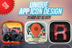 do iphone, android professional APP icon for you