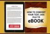 design Professional eBooks or Print Ready Books