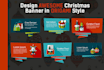 design Awesome CHRISTMAS Banner in Origami style