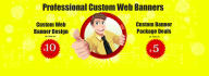 design an Attractive and Professional Website banner