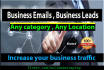 do Data Mining, Web Scrape, Business Email List, Email Extraction