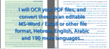 convert your english and french PDF to word file
