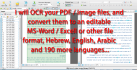 convert your russian and german PDF to word file