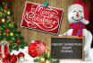 put your logo or message in this CHRISTMAS photo