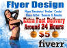 create flyer design for you