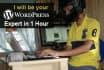 be your Wordpress Guy or Wordpress Expert 1 hour