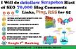 build dofollow Scrapebox Blast of SEO 70,000 blog comments