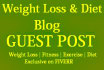 mention your Product or Website on Weight Loss and Diet Blog