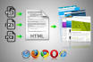 convert psd, jpg, pdf to html newsletter, emailers