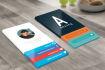 business card desing modern free  psd