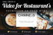 create a video for your restaurant menu