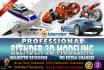 do 3D models in Blender