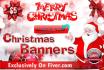 design a CHRISTMAS banner header leaflet