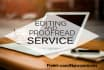 edit and proofread any manuscript