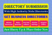 build Manually DlRECTORY Submission, Add Your Website With Authority Directories