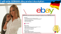 write awesome GERMAN eBay product description
