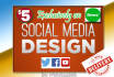 design Facebook, Twitter or Youtube covers