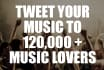 tweet your hip hop message for 7 days to 150,000 music lovers