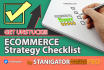 write great ECOMMERCE Strategy Checklist