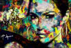 paint an artistic painting portrait