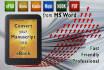 do eBook FORMATTING,eBook Design,format eBook, convert to Kindle format,ePub,Pdf