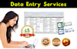 do 4 hours data entry services, in excel or word