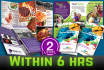 design a BROCHURE to your business within 6 hours