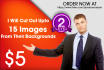remove background from 15 images professionally
