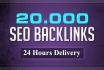 build 20000 SER backlinks for Google ranking in 24 hours