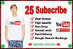 provide 25 subscribes for your youtube channel