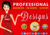 design a Professional Website Banner or Header