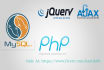php, Wordpress, MySql, AJAX, JQuery work