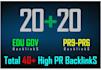 manually Do 40Pr9 Safe Seo high Pr Backlinks