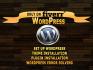 install wordpress, setup wordpress and customize wordpress
