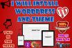 install Wordpress and desired Theme