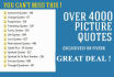 give 4000 COMBO picture quotes package