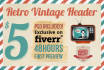 do retro vintage HEADER for your site