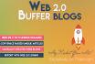 create 10 Web2 BUFFER blogs with Login details