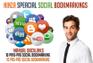 provide 30 manual social bookmarking to rank high